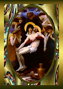 Robert Kernodle Posters - Bougereau Vintage Jesus Poster by Robert G Kernodle