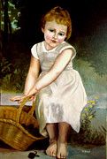 Zelma Hensel Framed Prints - Bouguereaus Little girl  Framed Print by Zelma Hensel