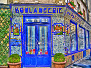 French Doors Digital Art Prints - Boulangerie Paris Print by Matthew Bamberg