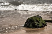 Bay Head Beach - New Jersey - Boulder And The Wave - Jersey Shore by Angie McKenzie