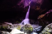 Creeks Prints - Boulder Cave Falls  Print by Jeff  Swan