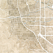 Abstract Map Originals - Boulder Colorado by Anne McGraw