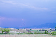 Boulder Colorado Lightning Strike Print by James Bo Insogna