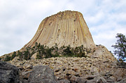 Travelpixpro Posters - Boulder Field beneath Devils Tower National Monument Wyoming USA Poster by Shawn OBrien