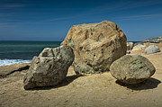 Randall Nyhof - Boulders above the beach at Point Loma by San Diego No. 0129