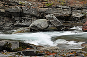 Lake Mcdonald Photos - Boulders in McDonald Creek by Bruce Gourley