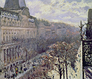 From Above Prints - Boulevard des Italiens Print by Gustave Caillebotte