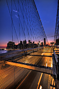 Brooklyn Bridge Photo Prints - Bound For Greatness Print by Evelina Kremsdorf