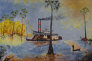 Mississippi River Painting Originals - Bound for New Orleans  by Richard Barham
