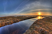 8mm Photos - Boundary Bay B.C Sunset by Pierre Leclerc