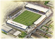 Athletic Paintings - Boundary Park - Oldham Athletic by Kevin Fletcher
