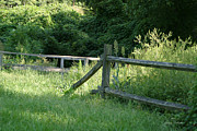 Split Rail Fence Photos - Boundries by Jimmy Eubanks