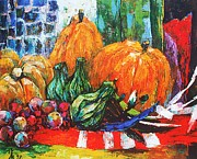 Pumpkins Paintings - Bountiful Harvest by Siang Hua Wang