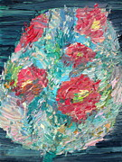 Red Bouquet Paintings - Bouquet by Fabrizio Cassetta