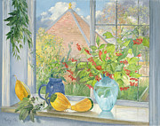 Kitchen Window Paintings - Bouquet Garnie by Timothy  Easton