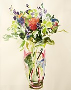 Vase Of Flowers Painting Prints - Bouquet  Print by Julie Held