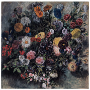 Ruse Prints - Bouquet of Flowers Print by Eugene Delacroix
