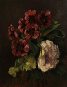 Courbet Posters - Bouquet Of Flowers Poster by Gustave  Courbet