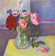 Robie Benve Prints - Bouquet of flowers Print by Robie Benve