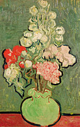 Auvers Sur Oise Prints - Bouquet of Flowers Print by Vincent van Gogh