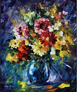 Leonid Posters - Bouquet of Love - Palette Knife Oil Painting On Canvas By Leonid Afremov  Poster by Leonid Afremov