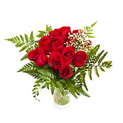 Fragrant Posters - Bouquet of red roses Poster by Elena Elisseeva