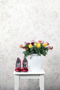 Red Shoe Prints - Bouquet Of Roses Print by Joana Kruse