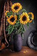 Hugo Bussen - Bouquet of sunflowers