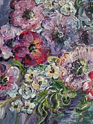 Wild Pansies Painting Posters - Bouquet of Sweetness Poster by Eloise Schneider