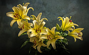 Hugo Bussen - Bouquet of yellow lilies
