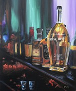 Barrel Paintings - Bourbon Bar by Donna Tuten