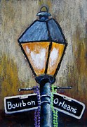 Mardi Gras Paintings - Bourbon Light by Suzanne Theis