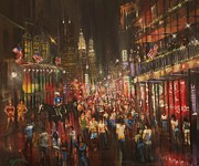 Street Painting Originals - Bourbon Street Baby by Tom Shropshire
