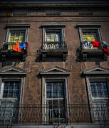 Street Photography Digital Art - Bourbon Street Balconies New Orleans by Kathleen K Parker