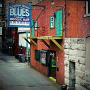 Tennesee Posters - Bourbon Street Blues Poster by Linda Unger