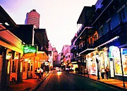 Halifax Art Galleries Framed Prints - Bourbon Street Early Evening Framed Print by John Malone