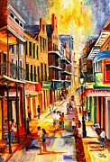 French Signs Paintings - Bourbon Street Mood by Diane Millsap