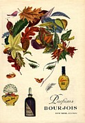 Featured Metal Prints - Bourjois 1940s Usa Womens Metal Print by The Advertising Archives