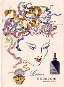 Fragrances Art - Bourjois Mais Oui 1930s Usa Womens by The Advertising Archives