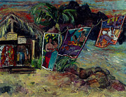 Paul Gauguin Mixed Media - Boutique Gauguin by Elaine Elliott