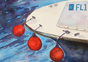 Bouys Paintings - Bouys by Bobbin Salisbury