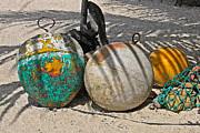 Bouys On The Beach Print by Kurt Gustafson