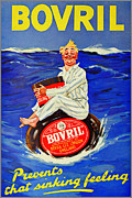 Meaty Posters - Bovril - Prevents That Sinking Feeling Poster by Charles Ross