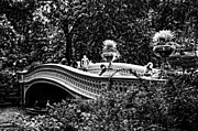 Bow Bridge In Central Park Print by Mike Martin