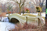 Bow Bridge In Central Park Ny Print by Paul Ward