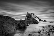 Monochrome Posters - Bow Fiddle Rock I Poster by David Bowman