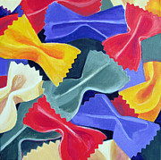 Italian Kitchen Paintings - Bow Ties Pasta  by Toni Silber-Delerive