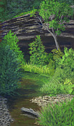 Stream Pastels Originals - Bowens Creek by Garry McMichael