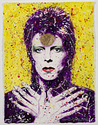 David Bowie Drawings - Bowie by Chris Mackie