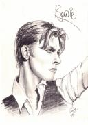 Heroes Drawings - Bowie by Cristophers Dream Artistry